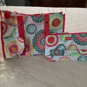 Thirty one utility tote and insulated zipper pouch